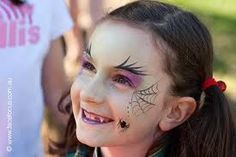 Spider Halloween Face Painting Spider Web Face Paint Witch By Images Spider Web Face Paint Makeup Tutorial Easy Spider Web Face Paint Face Painting Halloween Kids, Halloween Makeup For Kids, Halloween Eyes, Homemade Halloween, Halloween Halloween, Vintage Halloween, Halloween Costumes, Simple Witch Makeup, Kids Witch Makeup