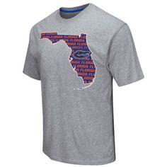 Shop Florida Gators Colosseum Gray State Outline Short Sleeve Cotton T-Shirt