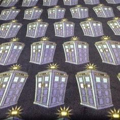 Fleece Knotted Tied Blanket - Doctor Who Tardis - Time Lord - Handmade - Fleece…
