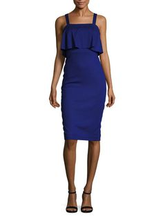 Linen Overlay Sheath Dress by Ava