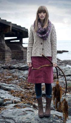 Seasalt Tern skirt in pink velvet