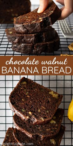 Banana Fritters Recipe by Tasty This easy Chocolate Banana Bread is so delicious and tender with a chocolatey and nutty flavor and wonderful aroma. Either as breakfast, dessert or mid-day snack, it will make you feel cozy and heartwarming. Easy Chocolate Desserts, Chocolate Banana Bread, Chocolate Recipes, Just Desserts, Dessert Recipes, Chocolate Cake, Dessert Dishes, Banana Walnut Cake Easy, Chocolate Chips
