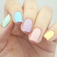 Easter nail designs are the cutest ones among the rest of the spring nail art ideas. Rabbits, eggs, chickens and flowers, it can be anything. Check out this compilation to see some the best Easter nail designs to try this weekend! Easter Nail Designs, Easter Nail Art, Easter Color Nails, Rainbow Nail Art Designs, Stylish Nails, Trendy Nails, Sophisticated Nails, Nail Design Spring, Spring Nail Art