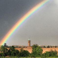 Rainbow over #bologna