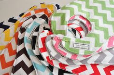 Pick 2 CHEVRON Baby/Toddler BIBS by peekabootiquequilts on Etsy, $18.00