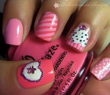 Inspiring picture cupcake, heart, kawaii, nail art, nails, polka dots. Resolution: 500x374 px. Find the picture to your taste!