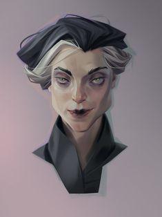 ArtStation - creepy lady, Sasha Tudvaseva