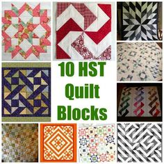 "HST (or Half Square Triangle) quilt blocks can be one of the most versatile block designs we have as quilters. With a simple turn of the block, or change of color, your block can go from looking repetitive and ""normal"" to having a huge WOW factor in just..."