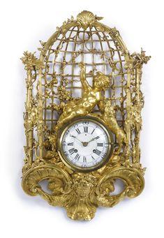 A LOUIS XV ORMOLU CARTEL CLOCK circa 1755