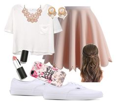 """""""girly"""" by josiemae426 on Polyvore featuring Chicwish, MANGO, Vans, Carolee, Sigma Beauty and Casetify"""