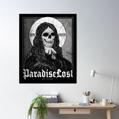 'John Milton Paradise Lost' Poster by Ikaroots John Milton Paradise Lost, Lost Poster, Floor Pillows, Throw Pillows, Canvas Prints, Art Prints, Wall Tapestry, Duvet Covers, Goth