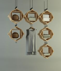 Hang on! on Behance   Hang on! is a cabinet designed with waste materials and designed for the display of products within a store.  Unique storage idea for the home
