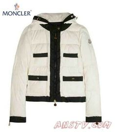 Moncler Femmes chance quilted Veste In Blanc and Noir