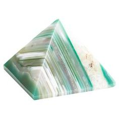 "Add an eye-catching touch to your home office with this lovely agate stone paperweight, showcasing a pyramid silhouette and striking green hue.  Product: PaperweightConstruction Material: Agate stoneColor: GreenDimensions: 3"" H x 3"" W x 3"" D (approximate)Note: Size and color will vary"
