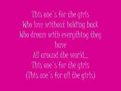Love, love the lyrics.....  Girl power, it's real.  It's awesome.