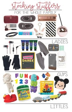 stocking stuffer ideas for the whole family | toddelr stocking stuffer ideas | baby stocking stuffers | stocking presents | guys stocking present ideas | stocking presents on a budget