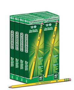 Dixon Ticonderoga Wood-Cased #2 HB Pencils, Box of 96, Yellow (13882) Dixon Ticonderoga http://www.amazon.com/dp/B00125Q75Y/ref=cm_sw_r_pi_dp_QGPuvb022VTKG