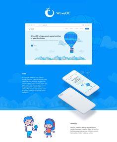 WaveOC Corporate Website Redesign on Behance