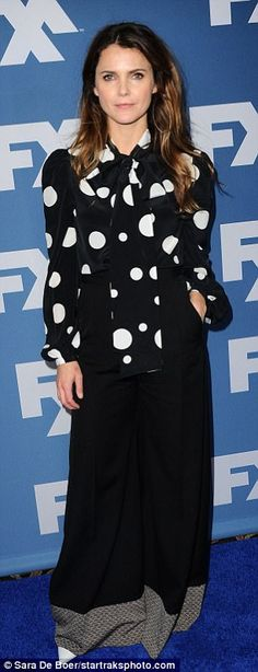 Hilary Swank and Keri Russell glam up to promote FX shows | Daily Mail Online