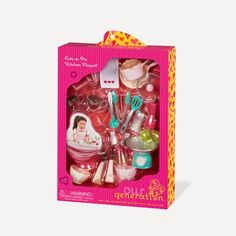 """American Our Generation CUTE AS PIE Kitchen Playset Food Baking 18/"""" Girl Doll"""