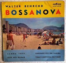 Walter behrend-Bossa Nova 7/45 Ep Portugal Foto Manga 1965 Raro Jobim Lyra Exc