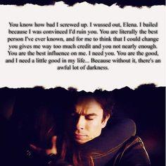 Damon Salvatore wow what a speech