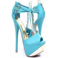 Zapatos celeste de moda