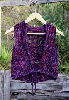 Size S/M Tailored Style lace Up Crochet Mandala Pixie por Wyldeskye
