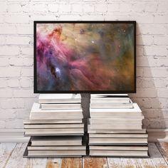 Orion Nebula poster Galaxy decor Fantasy print by SkyTemplePrints