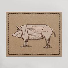 Pork Cuts Print from HAMMERPRESS