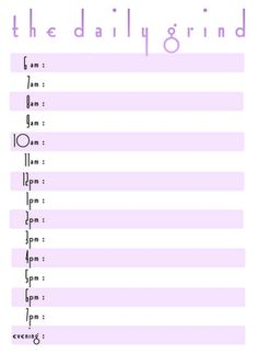 free daily printable schedule template   printables   Pinterest ...