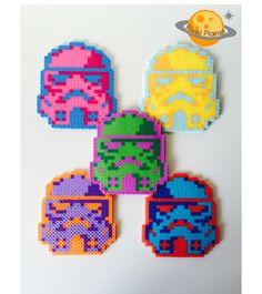 Star Wars - Stormtrooper Perler Beads Sprites Coasters by PixelPlanetShop on Etsy https://www.etsy.com/listing/262649140/star-wars-stormtrooper-perler-beads