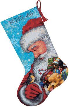 Needlepoint Christmas Stockings & Applique Kits - Everything You Need!