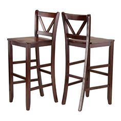 Winsome Victor 2-Piece V-Back Bar Stools, 29-Inch, Brown ... https://www.amazon.com/dp/B00QUKFXF6/ref=cm_sw_r_pi_dp_oArGxb52YKZR0
