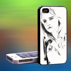 evanna lynch line art image Custom Case iPhone by laskarspelangi, $14.89
