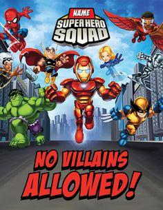 Super Squad Party Signs Printables por BsquaredDesign en Etsy