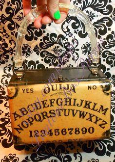Ouija Board vintage art Cigar Box Purse handmade by Phantom Box Purses, one of a kind SOLD Etsy.com/shop/PhantomBoxPurses