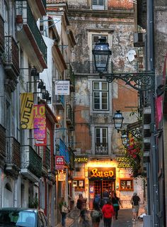 Luso  Bairro Alto, Lisboa,  Lisbon, Portugal