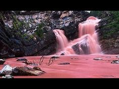 This Pink Waterfall Is Canada's Coolest Hidden Gem (Photos) - Narcity Waterton Lakes National Park, National Parks, Places To Travel, Places To See, Romantic Camping, Canadian Travel, Secret Places, Beautiful Places, Road Trip