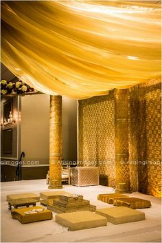 Gorgeous gold Indian wedding ceremony details. #indian #wedding #ideas