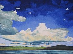 Gliding Over Spider Lake Quebec Canada by Francois Fournier Oil ~ 36 x 48