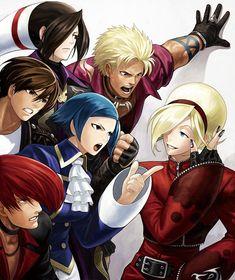 Kyu, Iori, Elizabeth, Doulon, Shen, and Ash