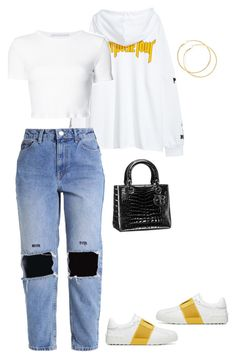Untitled #4017 by mollface on Polyvore featuring polyvore, fashion, style, Rosetta Getty, Christian Dior and clothing