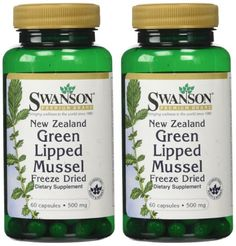 New Zealand Green Lipped Mussel 500 mg 60 Caps 2 Pack