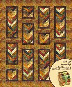 Cornucopia Autumn Braid Batik Quilt Kit by Robert Kaufman Fabrics