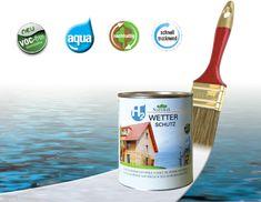 H2 Wetterschutz VOC mentes és oldószer mentes csúcsminőségű, természetes anyagokból álló ökofesték, amely extra védelmet nyújt víz és UV ellen. A H2 termékcsaládba tartozik a H2 Lazúrra épülő termék. Aqua, Packing, Nature, Sustainability, Weather, Bag Packaging, Water, Naturaleza, Nature Illustration