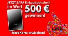 Kostenloses Gewinnspiel! 500 € Einkaufsgutschein von ZARA gewinnen!