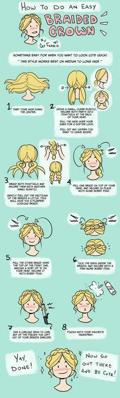 """Diario di blondAnna! Crown Braid II e """"Double Braid Bun"""" p.4 :D"""