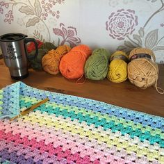 Happy Saturday my IG friends  I'm taking a break from crochet today the base of my thumb is very sore  I hope rest helps!! In the meantime I'm planning colours for my next blanket  #crochet #crochetaddict #crochetlove #crochetersofinstagram #instacrochet #attic24 #stylecraftspecialdk #stylecraft #happysaturday #coffee #crochetandcoffee #grannystripe #crochetlife by catharinerice