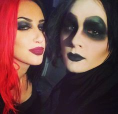 Ash Costello from New Year's Day and Devin 'Ghost' Sola from Motionless In White